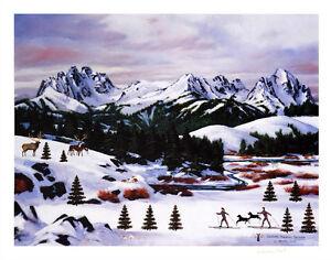 "Wooster Scott ""Sawtooth Mountain Splendor"" S/N COA Ski"