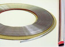 Chrom Zier Leiste Streifen 1m x 4mm selbstklebend universal Chrom Kontur Leiste