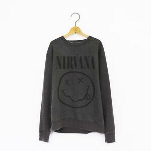 Men's 'Nirvana' Distressed Vintage-Style Rock Sweatshirt