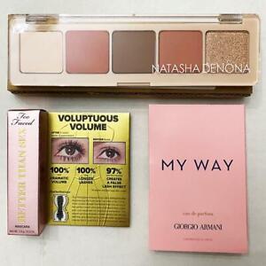 Natasha Denona Peak eyeshadow Palette Too Faced Mascara  My Way Giorgio Armani