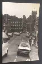 Vintage Photograph Bewdley Street View 1980 Cars People Shops Church j126