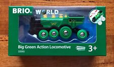 BRIO 33593 Big Green Action Locomotive train. Brand new. Free Post with tracking