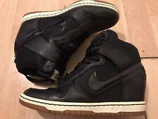 Nike Sky Hi Dunk Wedge Trainer Size 4.5 Black