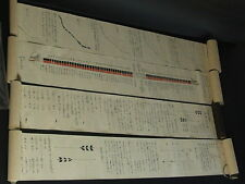 Antique Japanese Hand-Written Scroll Kyudo Makimono 4 pcs 1830