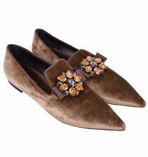 Flat (0 to 1/2 in.) Velvet Casual Shoes for Women