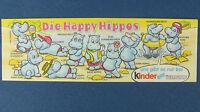 Die Happy Hippos - original Beipackzettel - Ü-Ei BPZ 1988