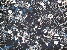 "Black/Cream/Purple/Blue Polyester Faille Woven Fabric Piece 3.5 yards 60"" wide"