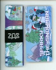Medium ZOX Silver Strap SPARKY THE SNOWMAN Wristband with Card Reversible