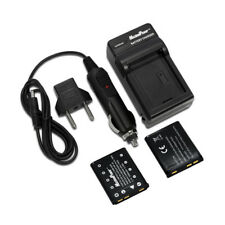 TWO BATTERIES + CHARGER Pack KODAK KLIC-7006 EasyShare MD30 Camera Battery X2