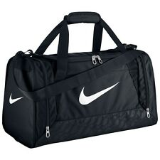 Nike Brasilia Duffel Bag Training Sports Holdall gym Travel Bag Small -- Black