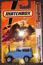 Matchbox Outdoor Sportstman '68 Toyota Land Cruiser Lite BLUE HTF 1:64 NIP Die C