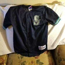 SEATTLE MARINERS JERSEY - YOUTH LARGE - THROWBACK - MAJESTIC - GRIFFEY