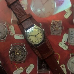 1920- 30's Bauhaus Trench Watch - Winds & Runs - !!Cleaning and Oiling Advised!!