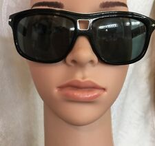 Persol Eyeglasses  Black Frame Rectangle Silver Trim Polarized