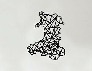 Wales Art - Wooden Laser Cut Wall Art - Geometric Country Art