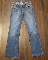Junior's Bullhead Laguna Denim Jeans ~ Blue ~ Sz 3 Short ~ Boot Cut ~ Low Rise