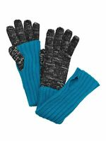 Grandoe Women's Knit Mock-Layer Tech Gloves - Black/Turquoise - L/XL