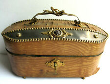 boite à chocolats, coffret bois, liserés perlés en laiton, style Napoléon III