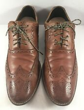Cole Haan Brown Leather Strand Cap Toe Oxfords Mens Size US 10M