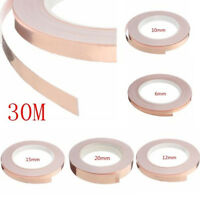 Slug Tape Copper Barrier Tape Repellent 6mm 10mm 12mm 20mm X Longer 30m Roll