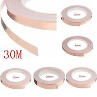 30M/Roll Adhesive Conductive Copper Repellent Guitar Pickup EMI Shield Slug Tape