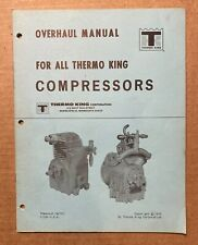 Overhaul Manual for All Thermo Ding Compressors