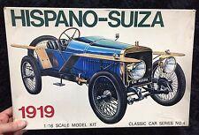 CLASSIC CAR 1919 HISPANO SUIZA 1/16  MODEL KIT GAKKEN JAPAN