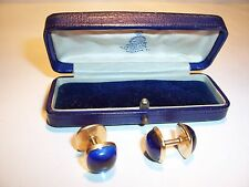 Antique 14k Gold Sapphire Color Cufflinks