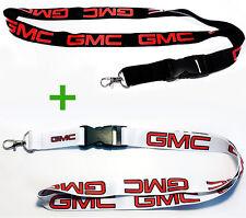 2x GMC LANYARDS NECK STRAP KEY CHAIN HIGH QUALITY 22 Inch BLACK & WHITE