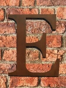 Industrial Rusty Aged Metal 12 Inch (30.5 cm.) Alphabet Letter - E