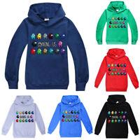 Kids Game Among Us Hoodie Boys Girls Hooded Sweatshirt Pullover Jumper Tops Coat