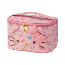 Pink Hello Kitty Cosmetics Makeup Pouch Bag Case Handbag Handle Rectangle Travel