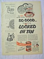 1954 Magazine Advertisement Page For G. Washington's Instant Coffee Vintage Ad
