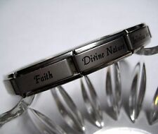 Italian Charm Young Women Values Bracelet / Jewelry - Shiny or Matte Finish