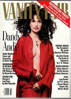 1993 Vanity Fair March-Andie MacDowell;J Edgar Hoover and Mafia;Nureyev and AIDS