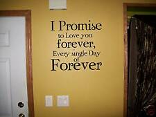I Promise twilight wall decor vinyl sticker uppercase