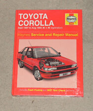 Haynes Toyota Corolla Sept 1987 To August 1992 Service & Repair Manual . New