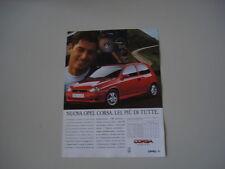 advertising Pubblicità 1993 OPEL CORSA GSi 16v