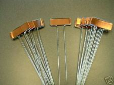 50 COPPER GARDEN MARKERS  10 INCH TALL 100% American Made.Garden Stakes Labels