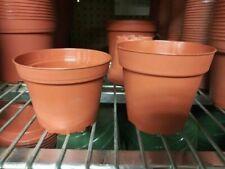 """Teku Pot - Terracotta - 4"""" Azalea Pot - Shorter pot - 10 Pots"""