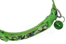 Dog Cat Collar Small Puppy Kitten Green Adjustable Strap COL014