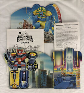 1993 Mighty Morphin Power Rangers Board Game Replacement Backdrop w/ Megazord