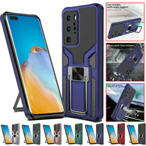 For Huawei P40 Pro Mate 40 Pro Plus Shockproof Ring Holder Stand Case Cover