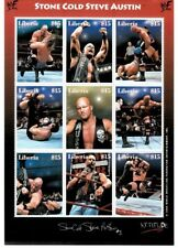 Liberia 2000 Stone Cold Austin - Sheet of 9 Wrestling Stamps MNH