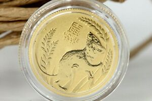 Australien 15 Dollar 1/10 Unze Gold Mouse 2020 Lunar 3 gekapselt 1/10 Oz #M06
