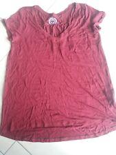 Tshirt Shirt Damen Gr. 42 Bordeaux Rot