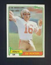 1981 Topps JOE MONTANA #216 Rookie Card San Francisco 49ers