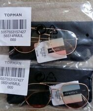 fc3a5d925516 2 x Pairs Topman Aviator Sunglasses + Cases New with Tags £28.00 RRP