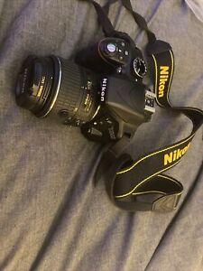 Nikon D3300 18-55mm VR Digital - Black.Remote And 2 Batteries 32g High Speed Mem