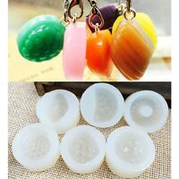 6Pcs Silicone DIY Fruits Pendant Mold Resin Casting Making Mould Jewelry Crafts@
